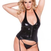 AL111042XK54cb94fd0802b 180x180 - Kitten Wet Look Halter Corset Black OS