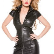 AL172005XL56825d2d6bd80 180x180 - XOXO Faux Leather Pleated Skirt Attached G-String OS