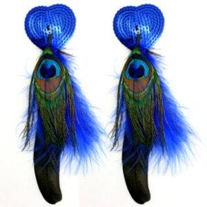 BDN301BLU56b5c7b012570 300x300 - Bijoux Nipple Covers Sequin Heart Feathers Blue