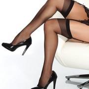CQ1706BLK 1 180x180 - Sheer Thigh High Stockings Red XL