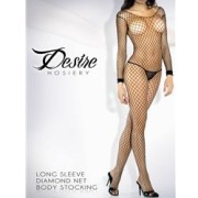 FAN2004STBLKOS 1 180x180 - Floral Lace Deep-V Front Bodystocking Blk Os