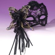 FN651635438d924e43a6 180x180 - Mask with Glasses Black Satin Feather O/S