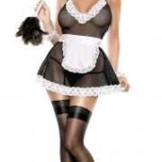 MSP308BLK1X 1 180x180 - French Maid G Crotchless Black O/S