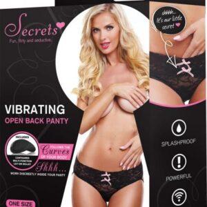 XGSV4BK544f4300a0b5b 300x300 - Secrets Vibrating Open Back Panty Black OS