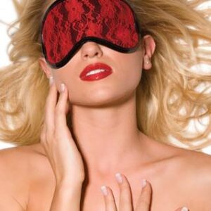AL1557XO 300x300 - Heartbreaker Vinyl and Lace Blindfold