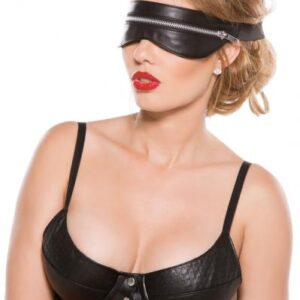ALBF200556825d357b620 300x300 - Black Faux Leather Zip Mask O/S