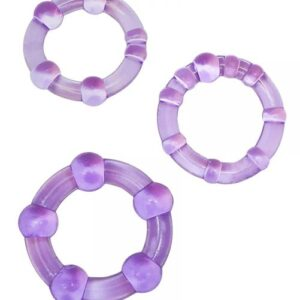 BN00011B54eed60be228a 300x300 - Textured Cockring Trio Purple Bulk