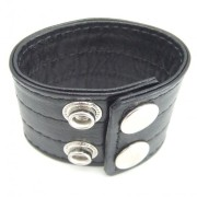 H2H305620c037a810e 180x180 - H2H Cock Ring Leather 2 Snaps Black