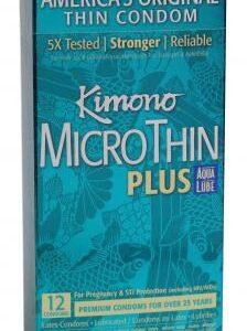 KM06012 1 224x300 - Kimono Micro Thin Condoms Aqua Lube 12 Pack