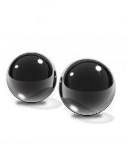 PD4434 23 258x300 - Fetish Fantasy Medium Black Glass Ben Wa Balls