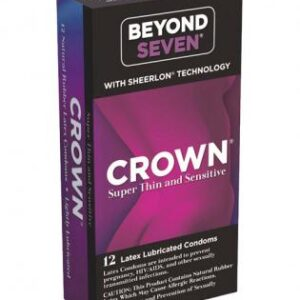 7623 12 300x300 - Crown lubricated condoms - box of 12