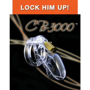 CB3000 300x300 - Cb-3000 Male Chastity Device 3 inch Clear Cock Cage