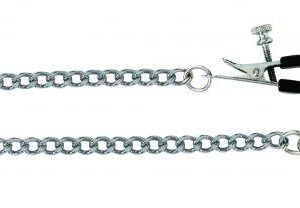CNVELD 1990 26 1 300x208 - Adjustable Broad Tip Nipple Clamps With Link Chain Silver