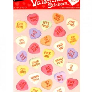 CNVELD 3170 80573302a6381ee 300x300 - 4 X-Rated Valentine Sticker Sheets 27 Stickers Per Sheet