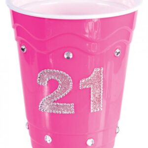 CNVELD 7856 3358566c80392aa 300x300 - 21 Birthday Plastic Cup with Clear Stones Pink