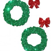 CNVELD 8286 38 2 180x180 - Pastease Glitter Red Heart with Green Bow Pasties