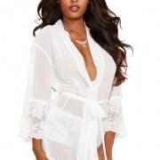 CNVELD DG8740 WH L0 11449513974 180x180 - Chiffon Lace Short Kimono Robe & Cheeky Panty Black 3X/4X