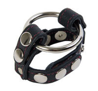 CNVELD DJ2002 01 1 - Black Leather English C and Ball Cage