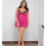 CNVELD EBC36518 BRP OQ58c2877735022 180x180 - Babydoll & G-String Raspberry Pink, Black O/S