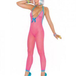 CNVELD EMV8943 NP OS53a1636b69b1f 300x300 - Crochet Bodystocking Peek-A-Boo Back Neon Pink O/S