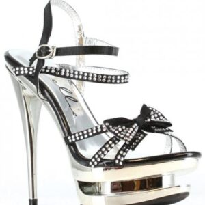 "CNVELD EST603 BK 85253d7d4a73d7 300x300 - Ellie Shoes Tess 6"" Rhinestone Strap Heel w/Bow Black Eight"