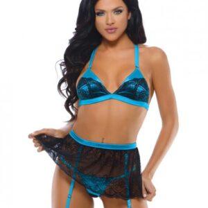 CNVELD FTT494 BB SM59feef7c4e70d 300x300 - Alyssa Triangle Bra, Garter Skirt & Panty Black Blue S/M