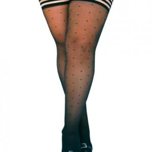 CNVELD KX1304 BK D5633401109c0d 300x300 - Ally Polka Dot Thigh High Stockings Black Size D
