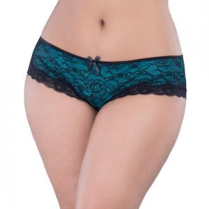CNVELD OLL2028 BKT X4573454a31114a 300x300 - Cage Back Lace Panty Black Teal 3X/4X