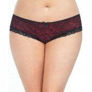 CNVELD OLL2028 BR X4573454a1dc064 180x180 - Cage Back Lace Panty Black Red 1X/2X