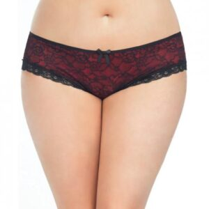 CNVELD OLL2028 BR X4573454a1dc064 300x300 - Cage Back Lace Panty Black Red 3X/4X
