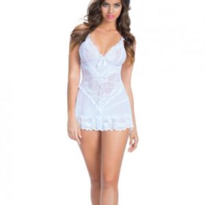 CNVELD OLL2139 WH L0576d0541aedc3 300x300 - Bridal Soft Cup Lace Babydoll G-String White Lg