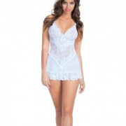 CNVELD OLL2139 WH X0576d054380276 180x180 - Bridal Soft Cup Lace Babydoll G-String White Sm