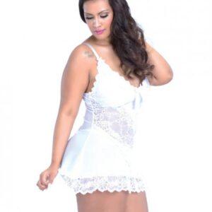 CNVELD OLL2139 WH X4576d054466bcf 300x300 - Bridal Soft Cup Lace Babydoll G-String White 3X/4X