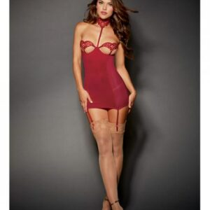 CNVELD RD10571 GN OS589c4bf70a374 300x300 - Chemise Underwire Open Cup, Garters Garnet O/S