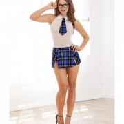 CNVELD RD10602 BPL OS588733fe559e5 180x180 - Schoolgirl Chemise, Attached Tie & Skirt Blue Plaid Qn