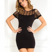 CNVELD RR7029 BK ML5540ac0fcd587 180x180 - Sexy Side Slash Seamless Dress Black S/M