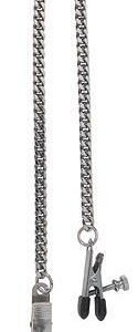 CNVELD SPF 01 1 125x300 - Adjustable Broad Tip Nipple Clamps With Jewel Chain Silver