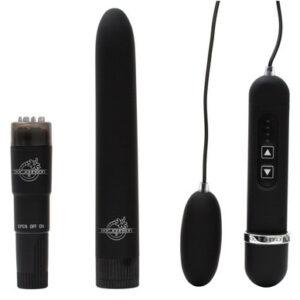 DJ0951 10 300x300 - Black Magic Pleasure Kit Velvet Touch Waterproof