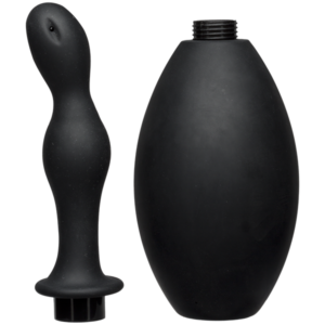 DJ240121585cf960df8b3 300x300 - Kink Flow Flush Black Silicone Anal Douche & Accessory