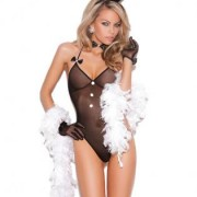EMV8658 BK OS 180x180 - Schoolgirl Costume Bra and Pleated Skirt O/S